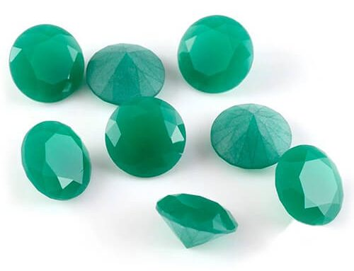 Milky Green Glass Gems