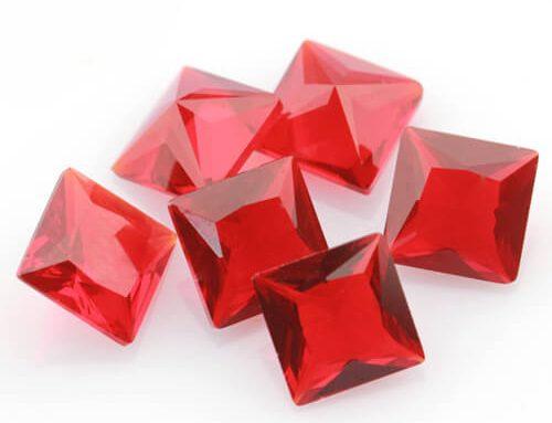 Ruby Red Glass Gems