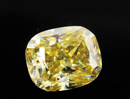 Yellow Moissanite Cushion Cut