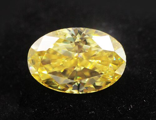 Yellow Moissanite Oval Cut
