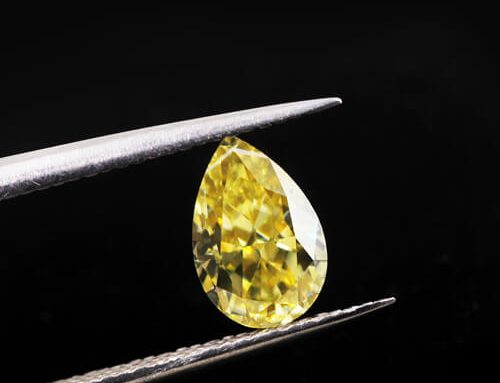 Yellow Moissanite Pear Cut