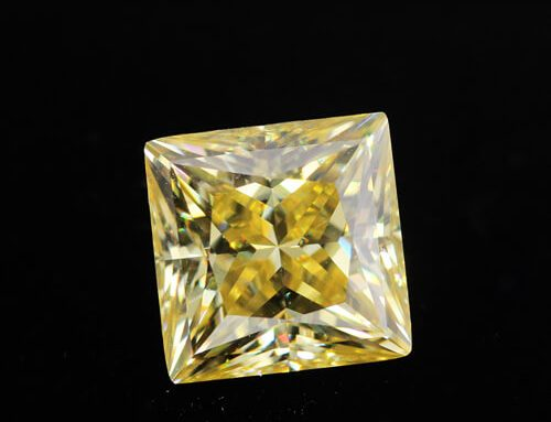 Yellow Moissanite Princess Cut