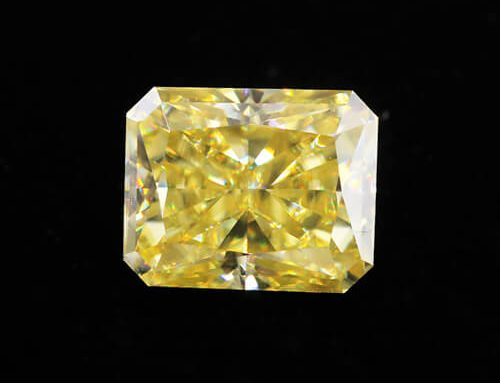 Yellow Moissanite Radiant Cut