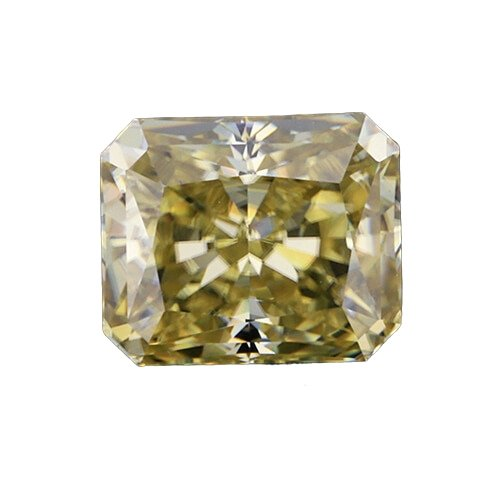 loose Moissanite cut yellow color