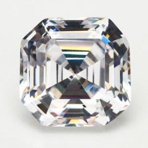 cubic zirconia Asscher Cut white cz