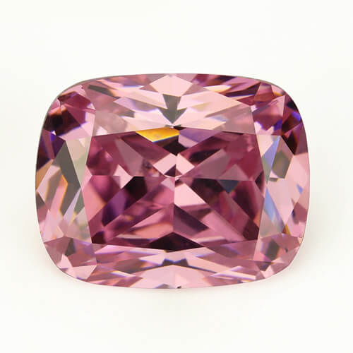 cubic zirconia antique cushion cut pink cz