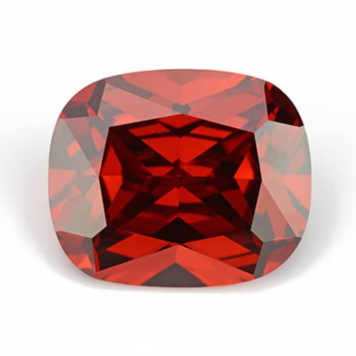 cubic zirconia cushion cut garnet cz