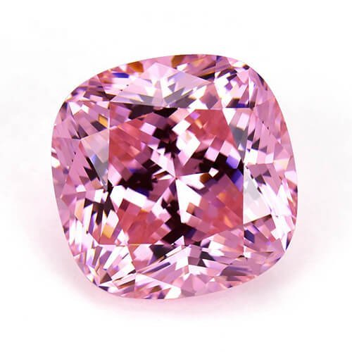 cubic zirconia cushion cut pink cz