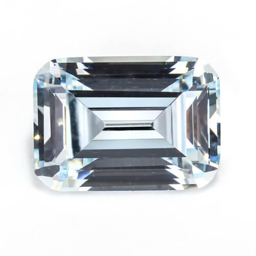 cubic zirconia emerald cut aqua cz