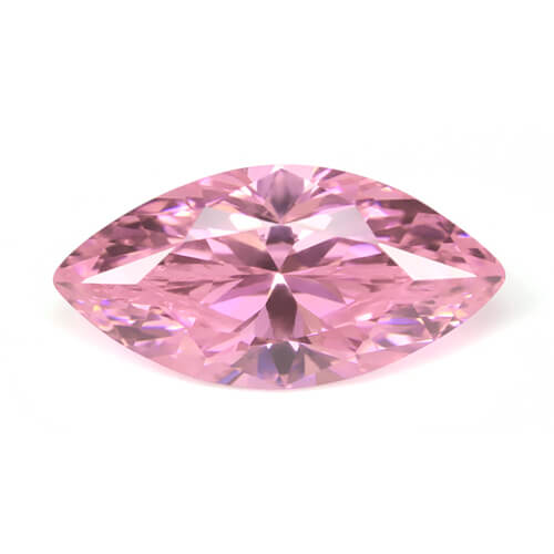 cubic zirconia marquise cut pink cz