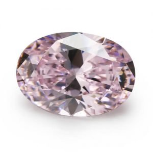 cubic zirconia oval cut pink cz