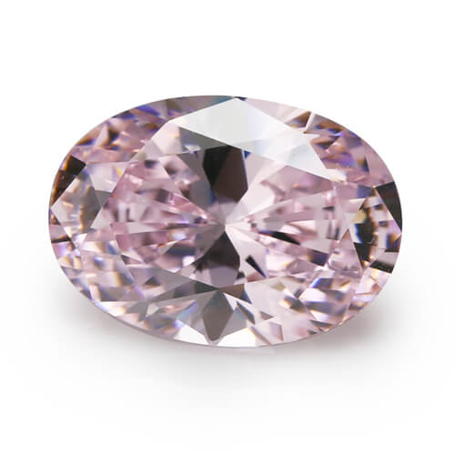cubic zirconia oval cut pink cz