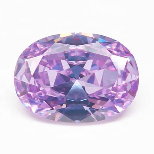 cubic zirconia oval cut purple cz