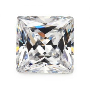 cubic zirconia princess cut white cz