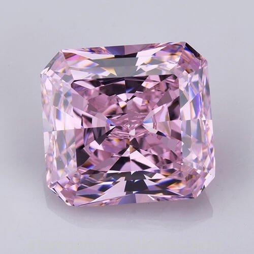 cubic zirconia radiant cut pink cz