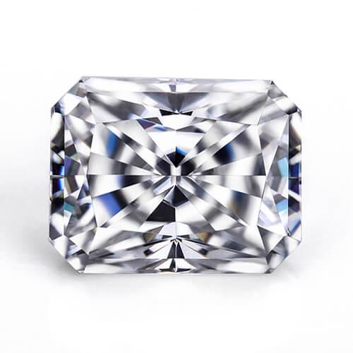 cubic zirconia radiant cut white cz