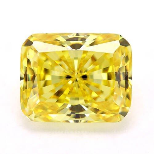 cubic zirconia radiant cut yellow cz