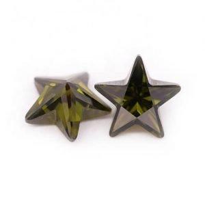 cubic zirconia star cut peridot cz