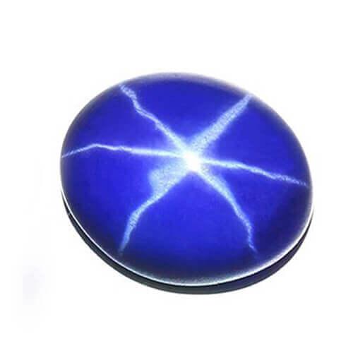 lab created Asteria blue sapphire