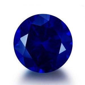 lab created blue sapphire 34#
