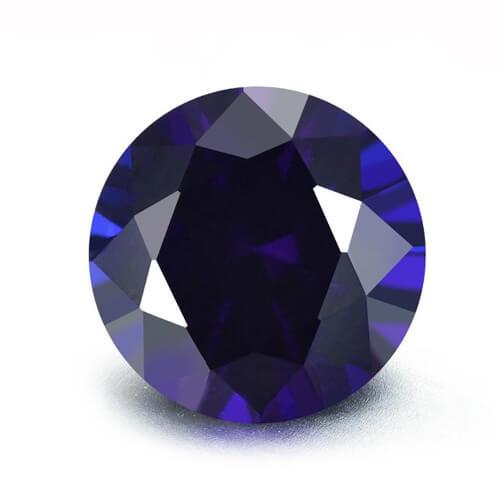 lab created blue sapphire 35#