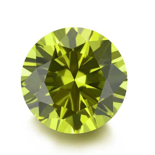 lab created yellow sapphire 21#