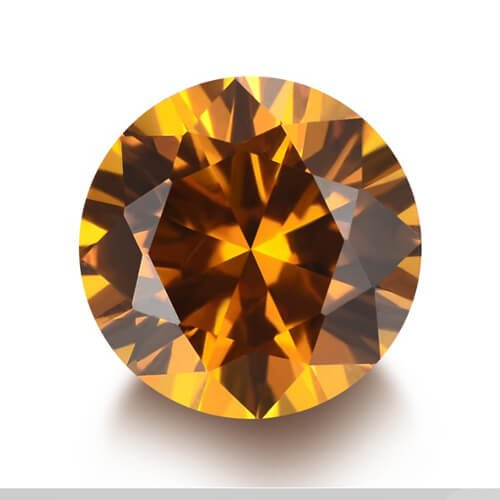 lab created yellow sapphire 22#