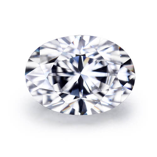 loose Moissanite oval cut