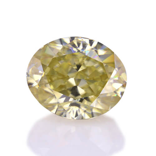 loose Moissanite oval cut yellow color