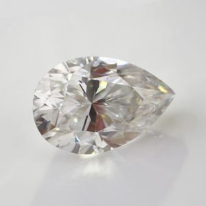 loose Moissanite pear cut white color