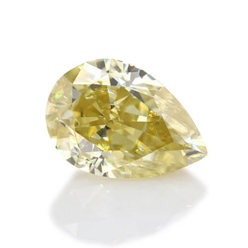 loose Moissanite pear cut yellow color