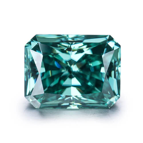 loose Moissanite cut green color
