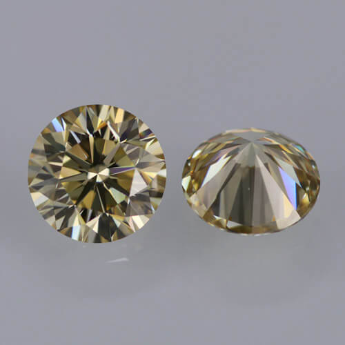 loose Moissanite yellow color
