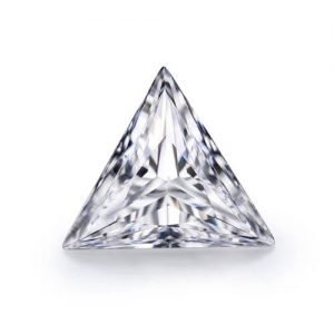 loose Moissanite triangle cut