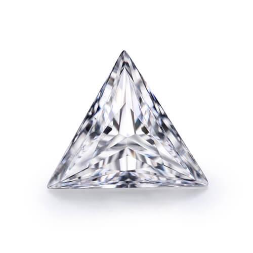 loose Moissanite triangle cut