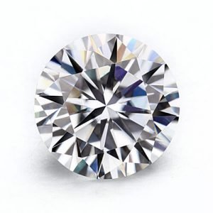 loose Moissanite round brilliant cut