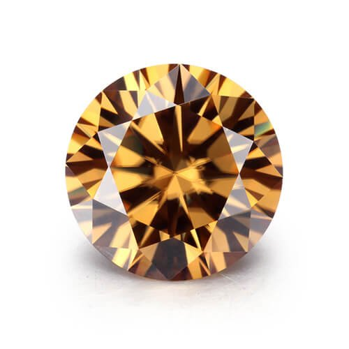 loose Moissanite champagne color