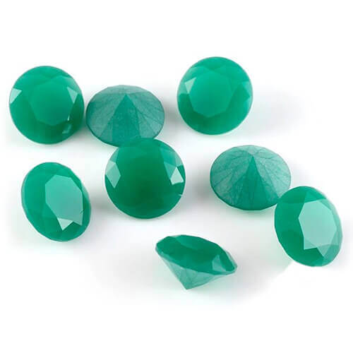 milky green jade glass gems