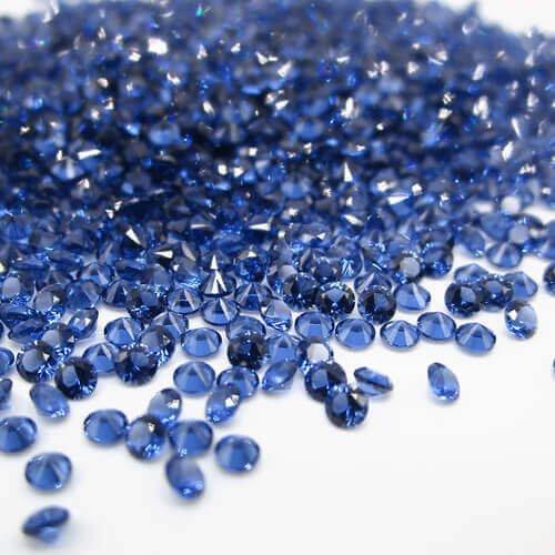 nano blue sapphire gemstones