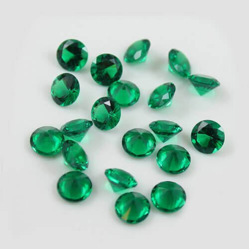 nano green gemstones