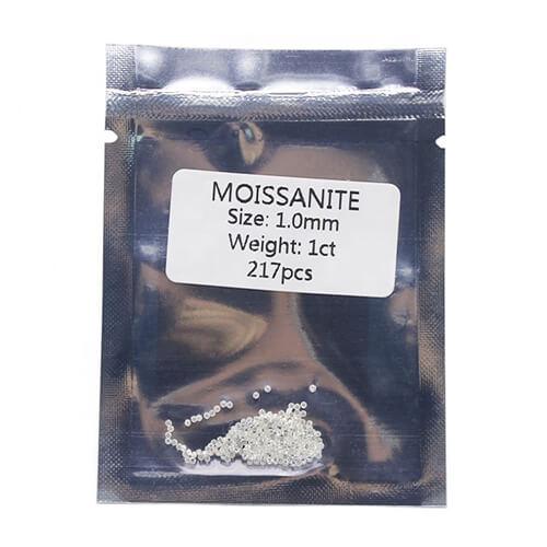 1.00mm melee moissanite