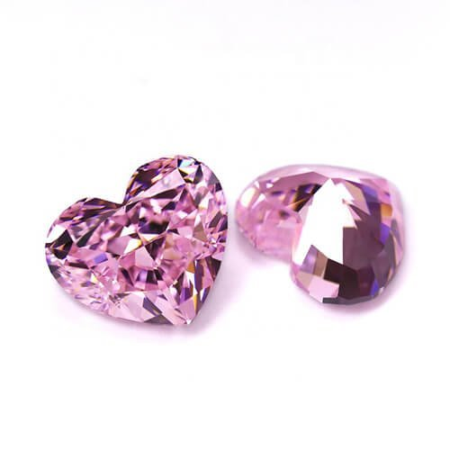 5a heart pink zirconia diamond