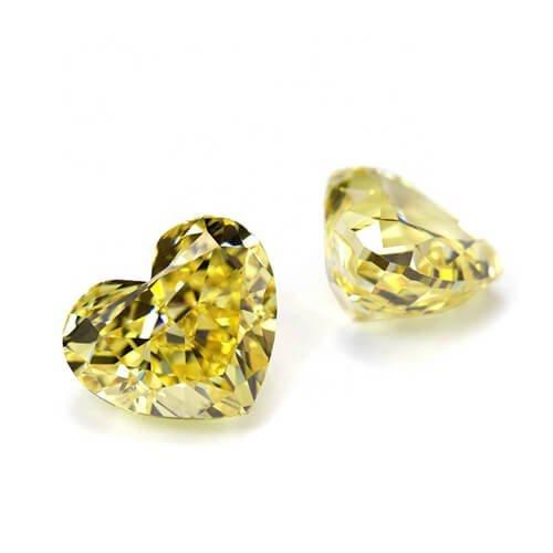 5a yellow cz diamond
