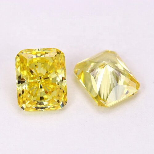 aaaaa yellow cz diamond