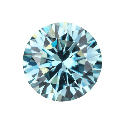 loose Moissanite aquamarine Moissanite 2