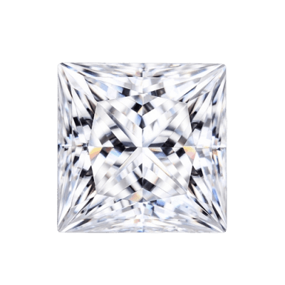 loose Moissanite princess cut 6