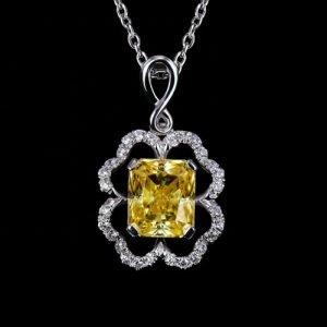 Yellow Moissanite pendant