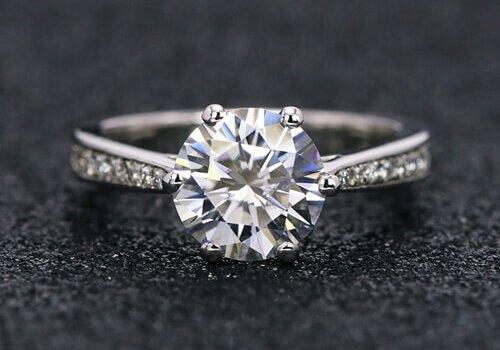 custom jewelry DEF Moissanite 14K ring