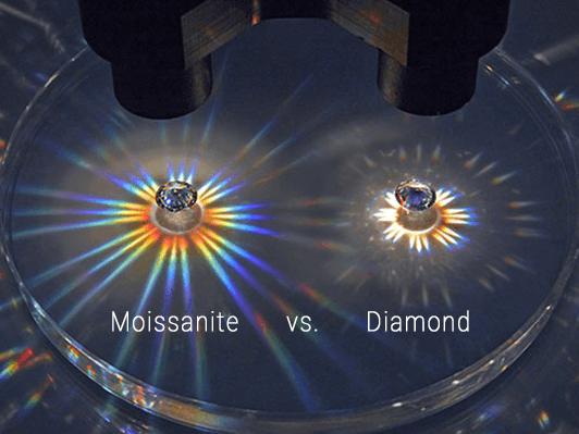 loose Moissanite VS diamond dispersion